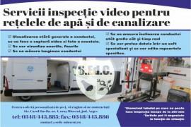 Servicii de inspecție video pentru rețelele de apă și canalizare oferite de S.Ed.C. Mioveni